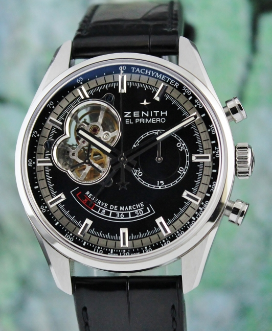 LIKE NEW UNPOLISHED ZENITH EL PRIMERO CHRONOMASTER POWER RESERVE / 03.2080.4021/21.C496