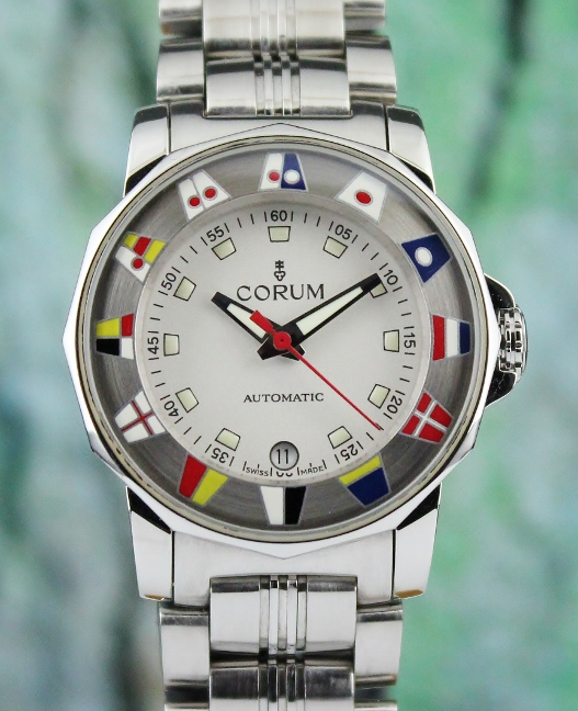 CORUM LADY SIZE STAINLESS STEEL ADMIRAL'S CUP / 145.430.20