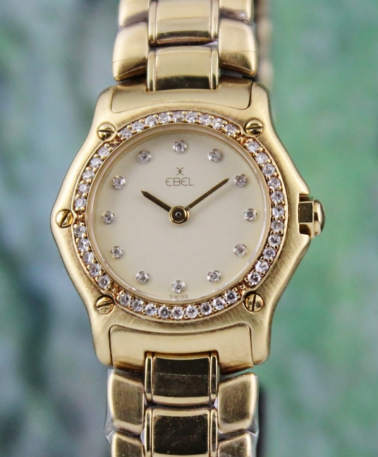 EBEL 1911 18K SOLID YELLOW GOLD LADY WATCH