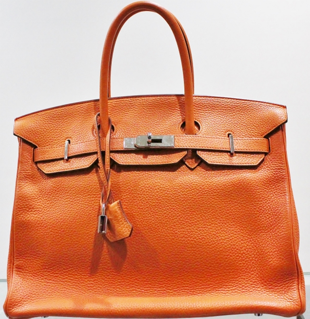 "Hermes Orange Colour 35cm Birkin Bag ""M"" Series"