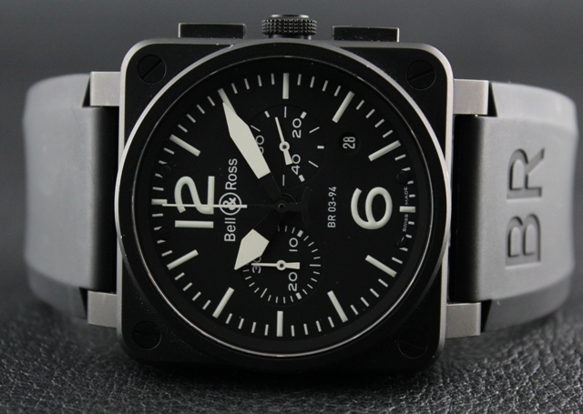 BELL & ROSS INSTRUMENT BR03-94 CHRONOGRAPH WATCH