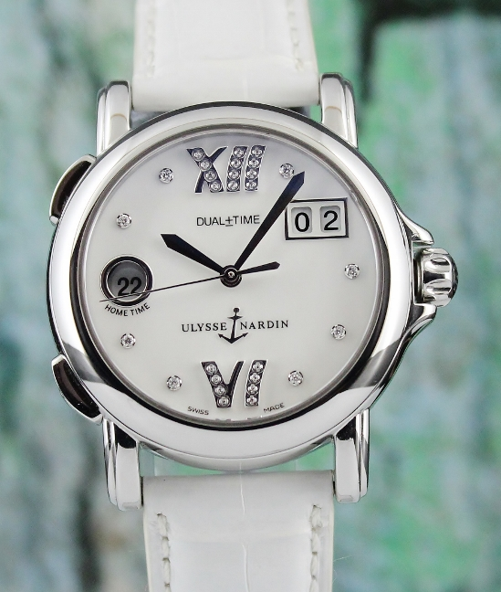 A Ulysse Nardin Stainless Steel Dual Time Watch MOP / 223-22