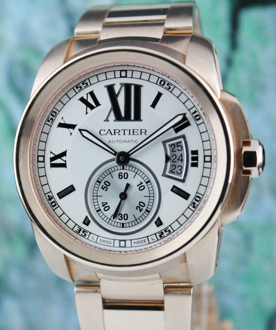 Cartier Calibre de Cartier 18K Rose Gold Automatic Watch / W7100018
