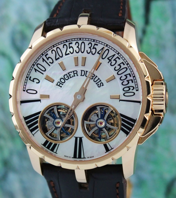"ROGER DUBUIS18K ROSE GOLD ""EXCALIBUR DOUBLE TOURBILLON"""