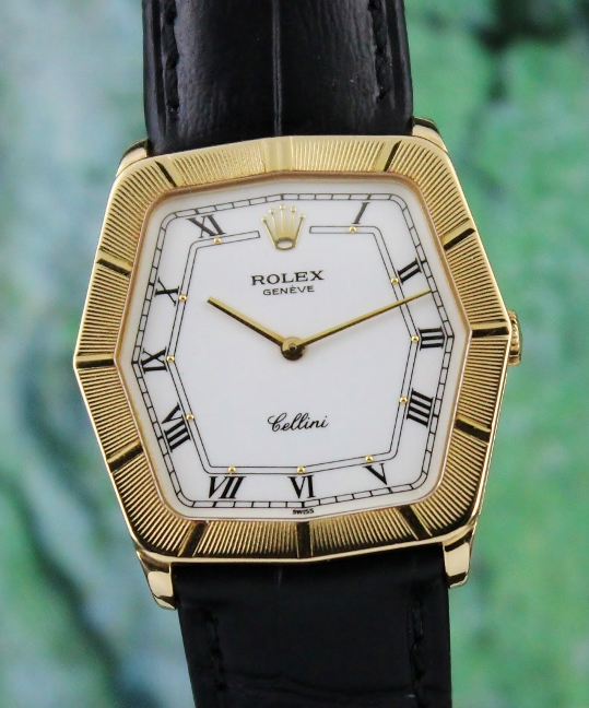 A ROLEX 18K YELLOW GOLD MANUAL WINDING CELLINI / 4170