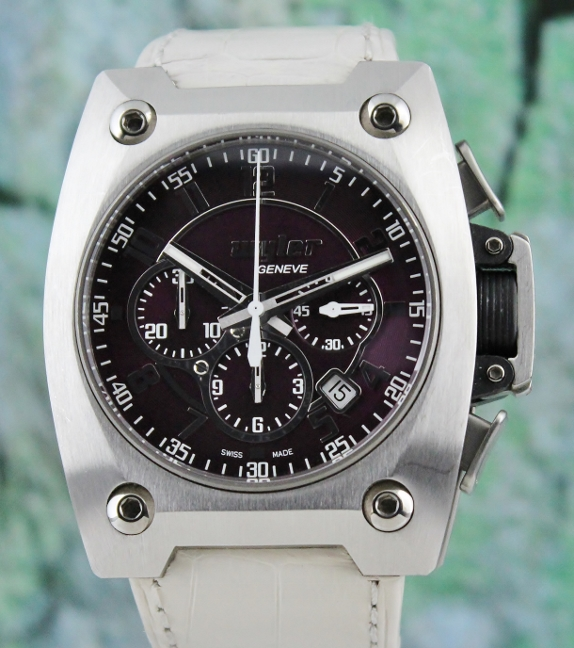 Wyler Stainless Steel Titanium Carbon Fiber Chronograph Automatic Watch