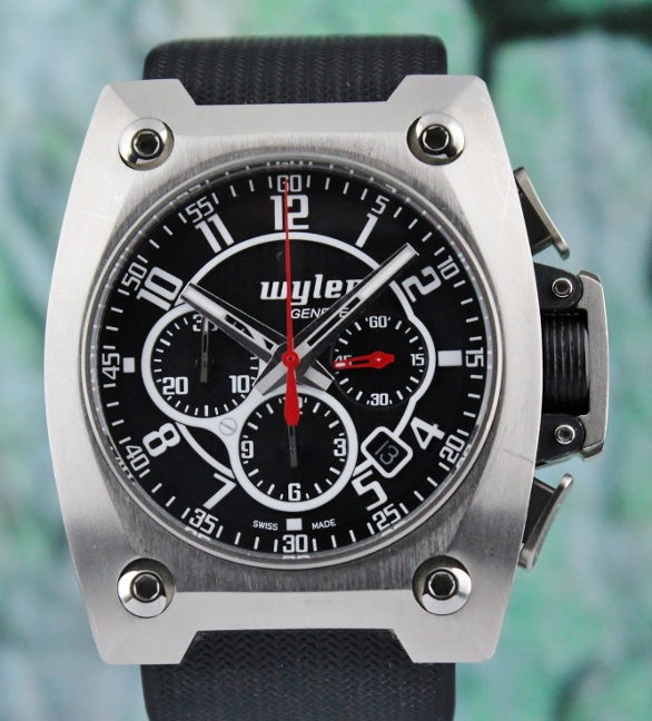 Wyler Titanium Carbon Fiber Chronograph Automatic Watch