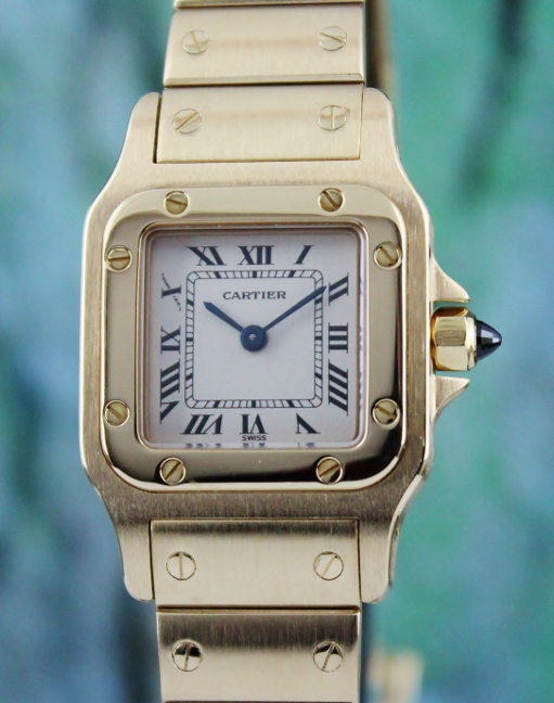 A CARTIER LADY SIZE 18K YELLOW GOLD GALBEE QUARTZ WATCH / 1569