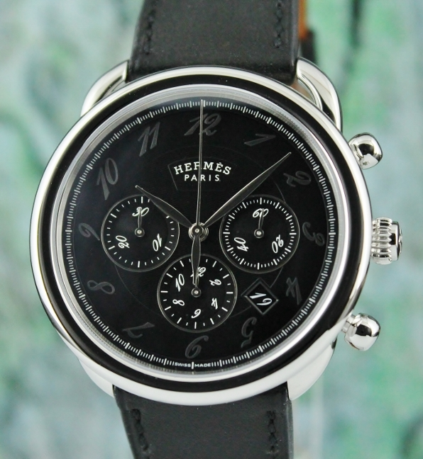 Unworn New Hermes Paris Arceau Chronograph Automatic Watch / AR4.910