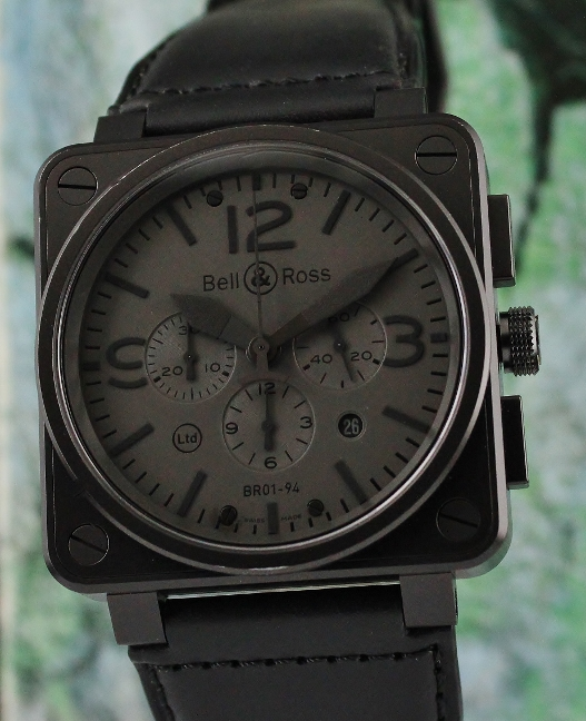 BELL & ROSS LIMITED EDITION PHANTOM CHRONOGRAPH COLLECTION / BR01-94-S