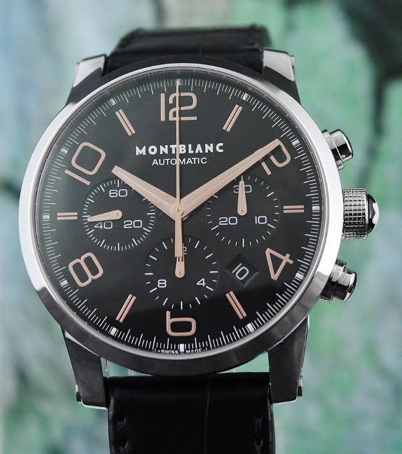 LIKE NEW MONT BLANC TIMEWALKER 43MM CHRONOGRAPH WATCH / 101548