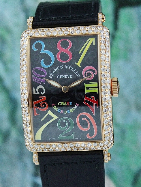 100% ORIGINAL FRANCK MULLER 18K ROSE GOLD CRAZY COLOUR DREAMS / 1200 CH D