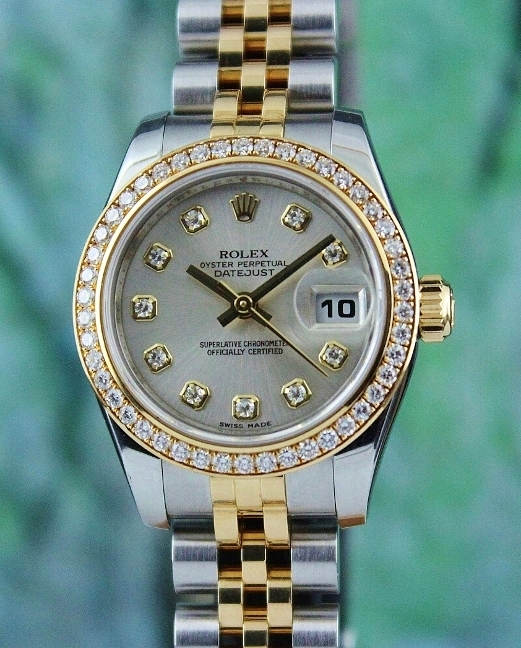 LIKE NEW ROLEX LADY SIZE OYSTER PERPETUAL DATEJUST - 179383