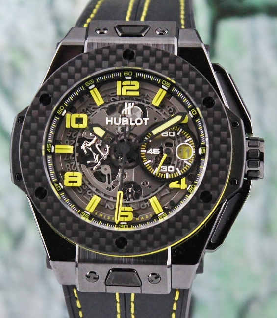 Unworn New Hublot Big Bang Ferrari Ceramic Carbon Limited Edition / 401.CQ.0129.VR