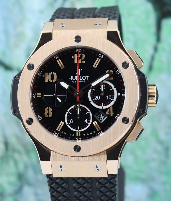 "LIKE NEW HUBLOT BIG BAND 18K ""ROSE GOLD"" AUTOMATIC CHRONOGRAPH"
