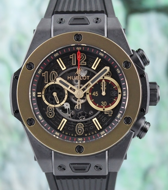 Hublot Unico Magic Gold Skeleton Dial Automatic Watch / 411.CM.1138.RX