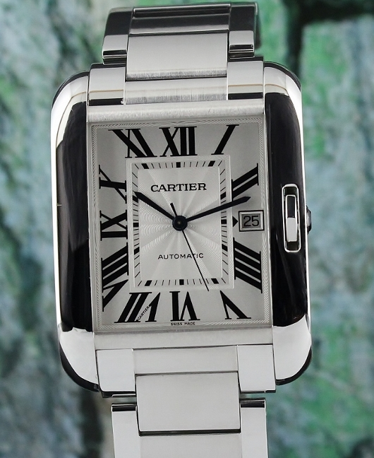 Cartier Tank Angalise Stainless Steel Automatic Watch / W5310008
