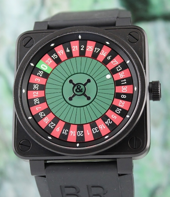 BELL & ROSS BR01-92 PVD CASE CASINO LIMITED EDITION 99 PCS WATCH