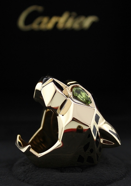100% ORIGINAL 18K YELLOW GOLD CARTIER PANTHER RING