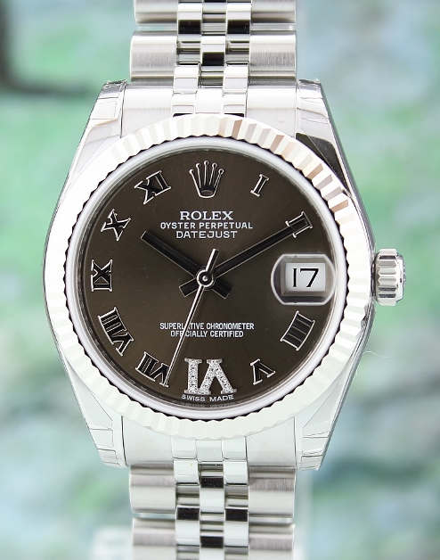 UNWORN ROLEX MID SIZE OYSTER PERPETUAL DATEJUST - 178274