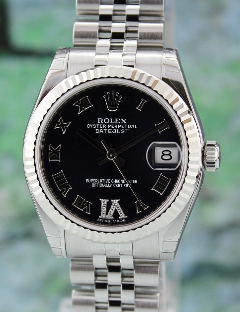 NEW UNWORN ROLEX MID SIZE OYSTER PERPETUAL DATEJUST - 178274