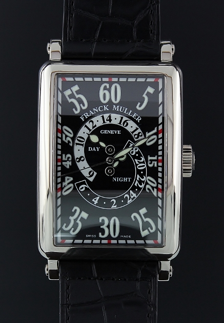 A FRANCK MULLER 18K WG LONG ISLAND AUTOMATIC WATCH / 1300 DH R