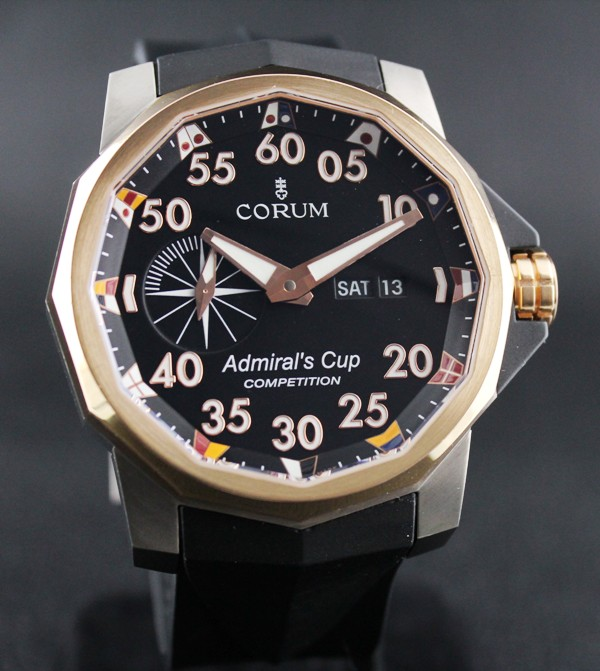 Corum Admiral's Cup Competition 48mm Pink Gold/ Steel /Cert