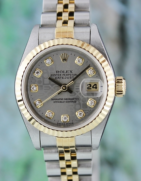 A ROLEX LADY SIZE OYSTER PERPETUAL DATEJUST / 69173/CERT
