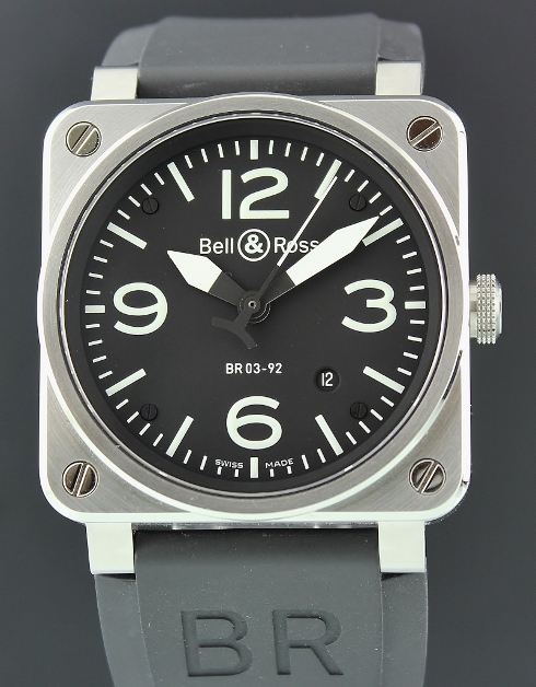 LIKE NEW BELL & ROSS 42MM Stainless Steel Automatic / BR 03-92