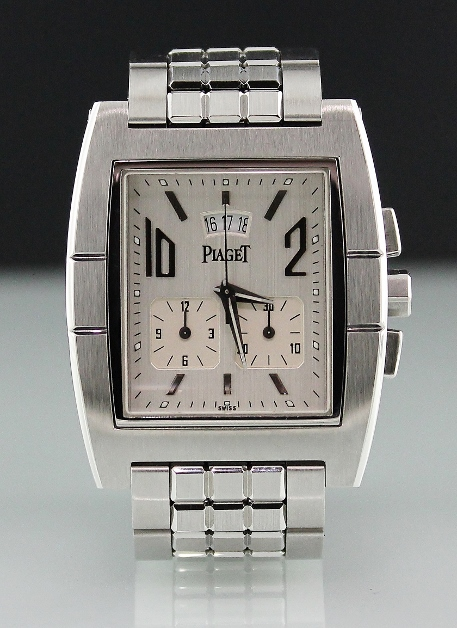 A PIAGET STAINLESS STEEL UPSTREAM CHRONOGRAPH