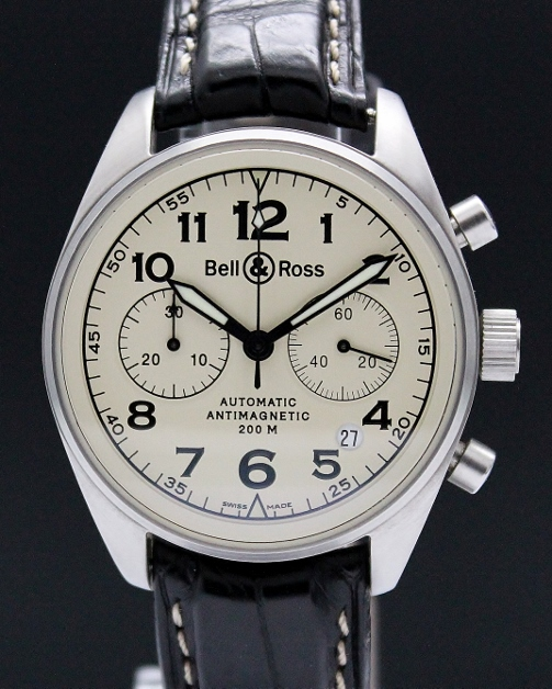 BELL & ROSS CHRONOGRAPH BR 126 VINTAGE COLLECTION