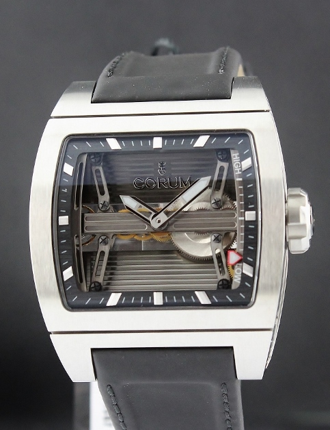 NEW UNWORN CORUM TI-BRIDGE POWER RESERVE 42MM AUTOMATIC WATCH / 107.201.04/OF61