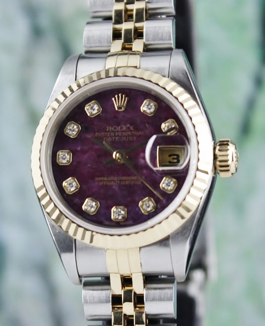 A ROLEX LADY SIZE OYSTER PERPETUAL DATEJUST / 69173 /CERT