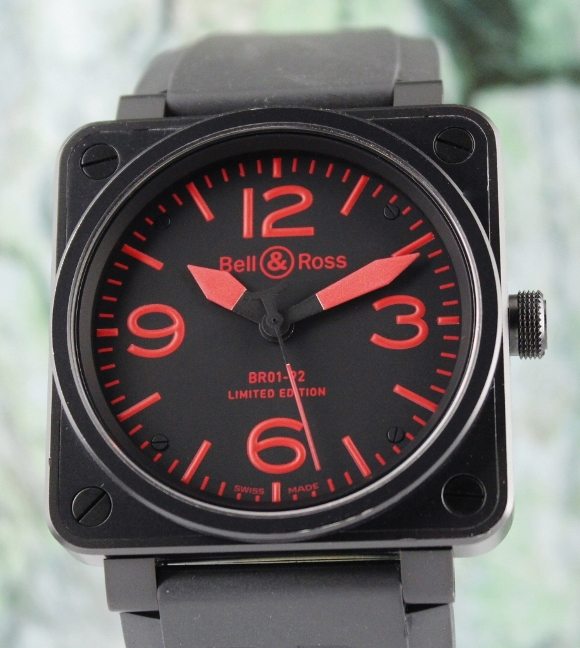 Bell & Ross Limited wdition 500 Pieces 46mm / BR01-92-S RED