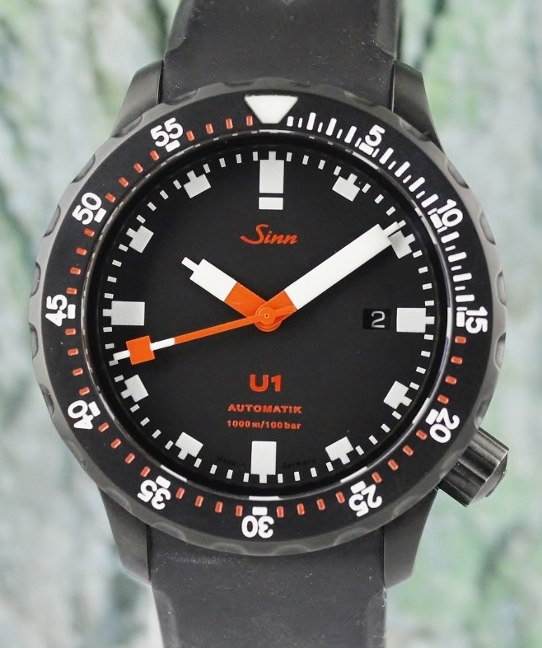 SINN U1 DIVER'S LIMITED EDITION 250 PIECES AUTOMATIC WATCH / 1010.021-U1 TEMPUS-S