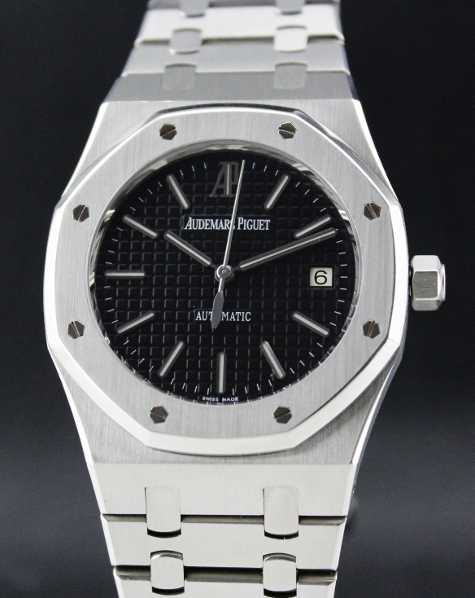 Unpolished Audemars Piguet AP Royal Oak 15300 Black Dial / Complete