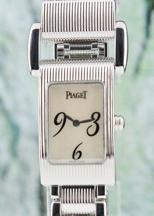 Like New Piaget Miss Protocole 18k White Gold Lady Watch / 5321