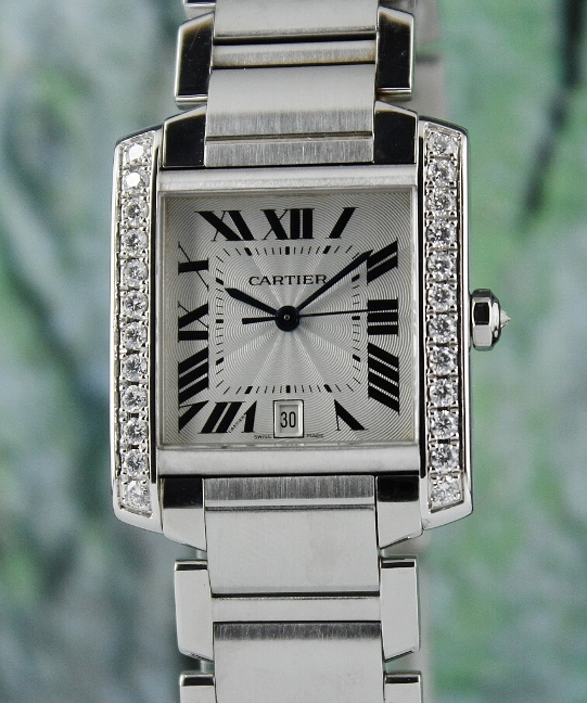 CARTIER TANK FRANCAISE STAINLESS STEEL AUTOMATIC WATCH / 2302