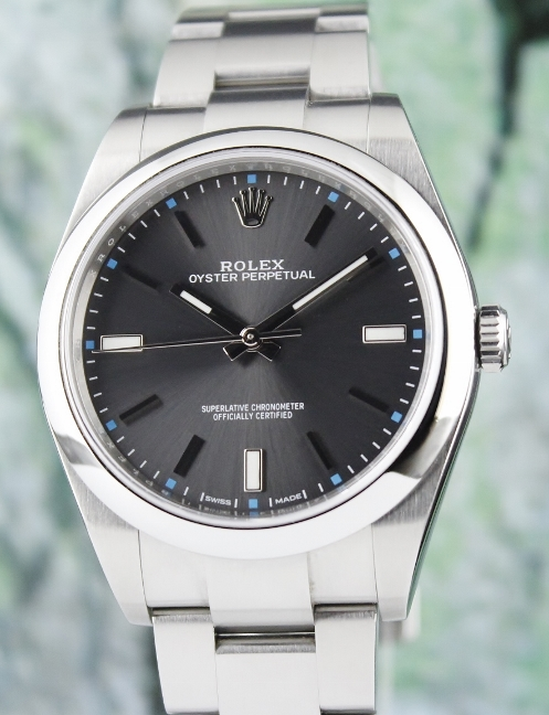 A ROLEX STAINLESS STEEL OYSTER PERPETUAL / 114300