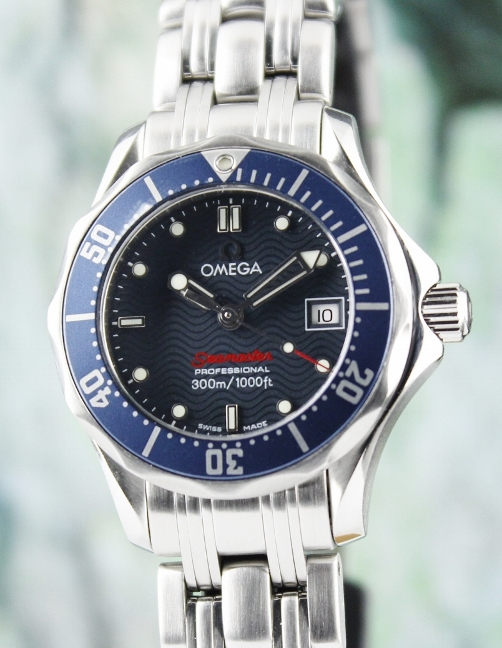 AN OMEGA LADY SIZE SEA MASTER PROFESSIONAL WATCH