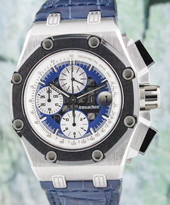 Audemars Piguet Rubens Barrichello Platinium Chronograph Watch / 26078PO.OO.D018CR.01