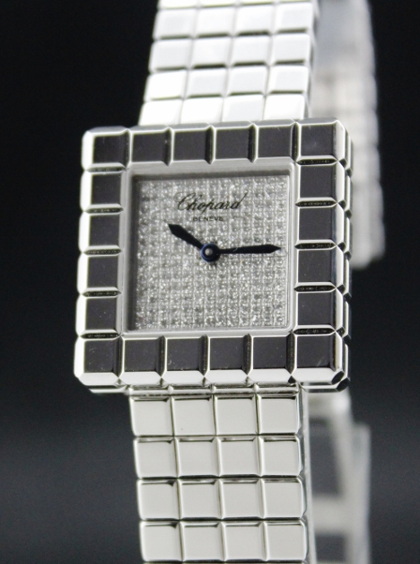 BRAND NEW CHOPARD 18K WHITE GOLD ICE CUBE