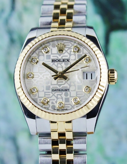 ROLEX MID SIZE TWO TONE OYSTER PERPETUAL DATEJUST / 178273