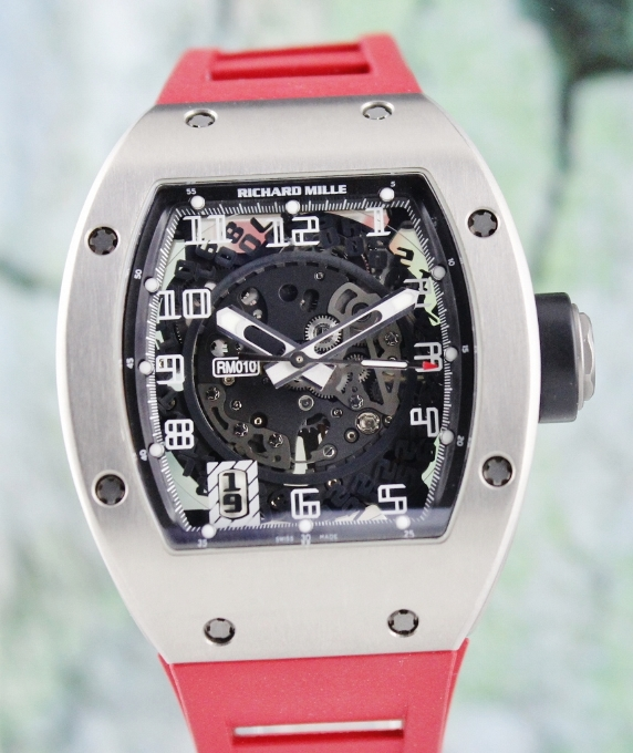 Mint Richard Mille Titanium Automatic Skelaton Watch / RM 010