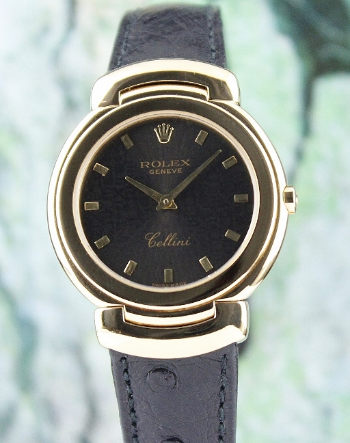 ROLEX 18K YELLOW GOLD MID SIZE CELLINI QUARTZ WATCH/ 6622