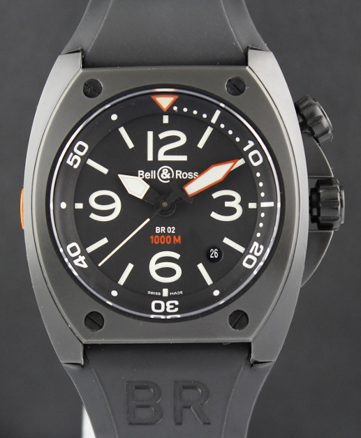 A BELL & ROSS PVD MARINE AUTOMATIC / BR02-92