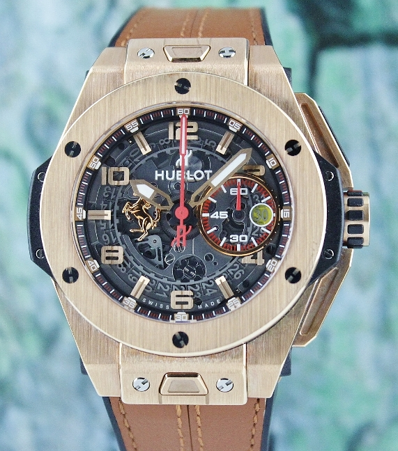 Unpolished Mint Hublot Big Bang Ferrari Limited Edition 18K Rose Gold / 401.OX.0123.VR