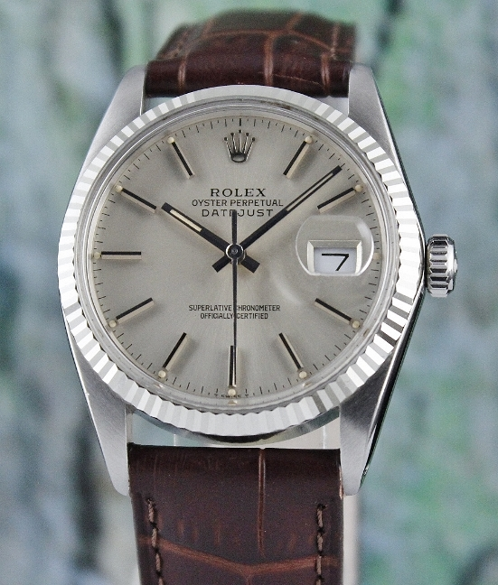 ROLEX MEN SIZE VINTAGE OYSTER PERPETUAL DATEJUST / 16014