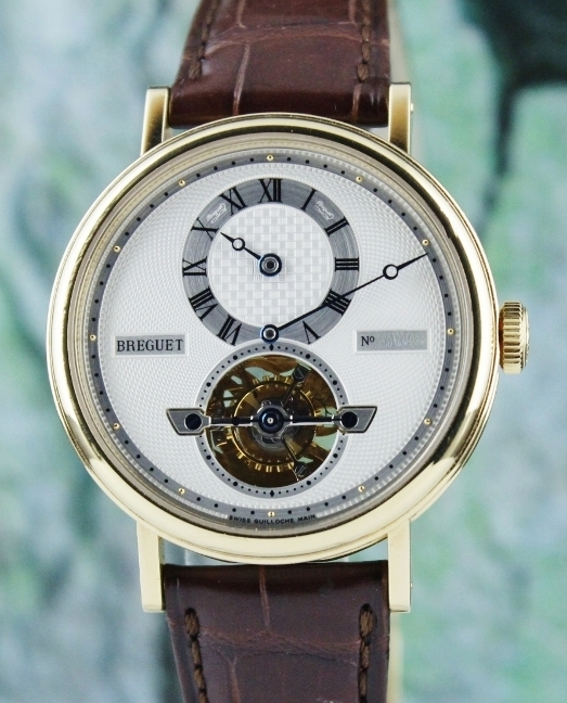 Breguet 18k Yellow Gold Tourbillon Automatic Regulator Watch / 5307ba/12/9v6