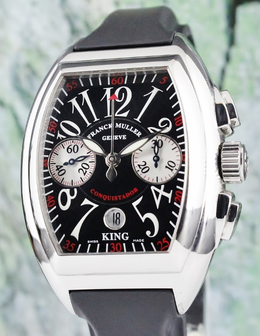 Franck Muller King Size Stainless Steel Conquistador / 8005 CC KING